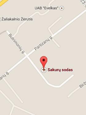 Sakurų Sodas adresas